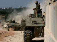 Israeli forces move to southern Gaza in operation against Hamas militants