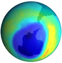 Ozone hole above Antarctica brings billions of dollars to chemical corporations