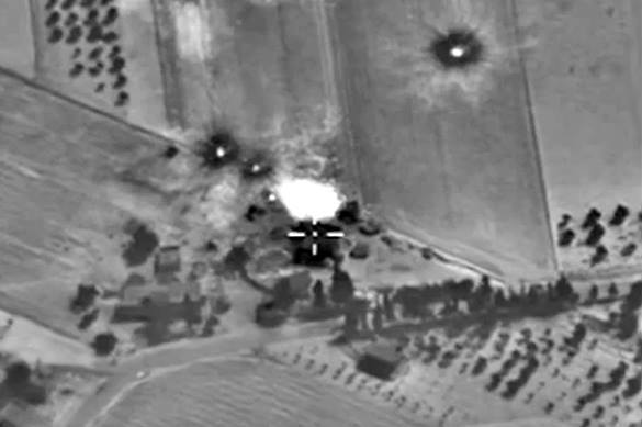 Russia destroys ISIS command posts near Aleppo. Russia strikes ISIS