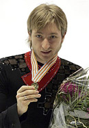 Evgeni Plushenko wins Olympic gold