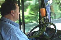 Bus drivers protest new EU rules