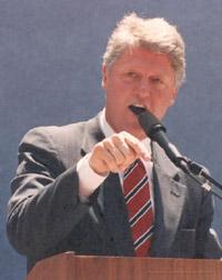 Former U.S. president Clinton hoping for more pledges