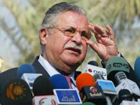 President Talabani returns to Iraq after medical treatment in Jordan