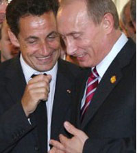 Sarkozy says Putin's trip could encourage Iran to be more cooperative