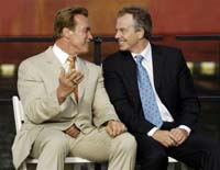 Schwarzenegger, Blair to meet in London next week