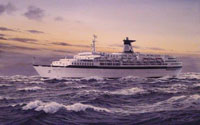 Passenger liner Queen Elizabeth to float