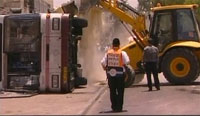 Palestinian bulldozer driver goes on deadly rampage on busy Jerusalem street