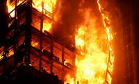 16-story apartment building near New Jersey coast enveloped in fire