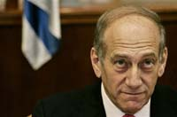 Olmert's first visit to Washington: much expression