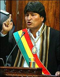 Bolivia's president orders army to natural gas fields