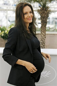 Angelina Jolie's labor not too far away
