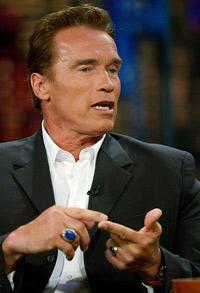 Schwarzenegger, on US TV talk show, points to Iraq