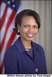 Protesters boo top United States diplomat Rice during her tour of northern England