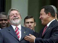 Lula da Silva and Hugo Chavez to move forward with two joint ventures