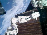 Shuttle Discovery's astronauts and NASA cooperate in doing biggest construction job