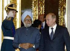 Vladimir Putin and Manmohan Singh