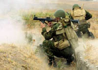 Russian federal forces blockade terrorist group in Russia's south