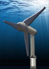 Underwater windmills produce energy