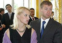 Roman Abramovich and his wife, Irina