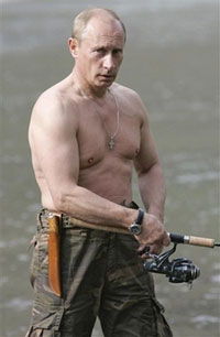 Pictures of bare-chested Putin send straight women and gay men in ecstasy