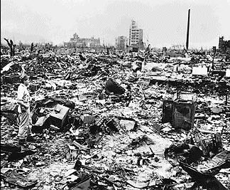 Atomic blast in Hiroshima