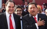 Venezuelan President Chavez Walks Venice Red Carpet with Oliver Stone