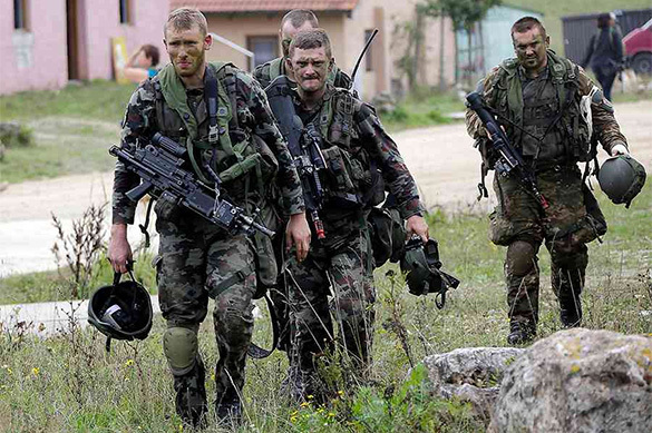 Record number of NATO servicemen suffer injuries during military drills. 60533.jpeg