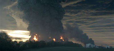 The fire on Buncefield depot