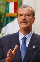 Mexican President Vicente Fox denies charges he is interfering in elections