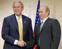 Putin and Bush: Last battle coming in April