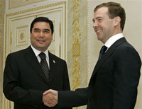 Russian president visits Turkmenistan to consolidate Moscow's gas monopoly