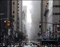 Pipe blast kills one prompting 9/11 panic in New York
