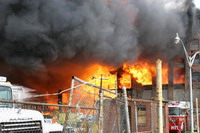 Fire sweeps through abandoned warehouse in Philadelphia leading to evacuation