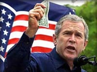 George W. Bush's policy takes the USA to financial collapse