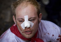 Nine injured in running of the bulls in Spain