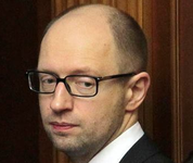 Yatsenyuk and Poroshenko dividing Ukraine. 53552.png