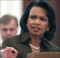 Secretary of State Condoleezza Rice will visit Russia but skip Israel for now