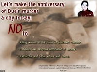 Conference: Ban Honour Killings globally