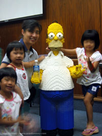 Two men steal life-size Homer Simpson statue from Malaysian cinema