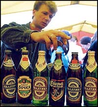 Georgia banned import of Russian beer