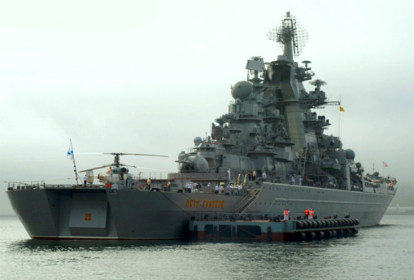 Russian nuclear cruiser scares off NATO warships in English Channel. Peter the Great nuclear cruiser