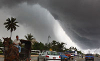 Tropical storm Olga drives people out of their homes in Dominican Republic