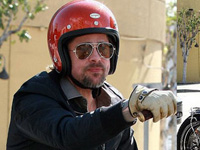 Brad Pitt Misses His Crashed Bike