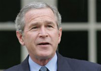 Bush welcomes Israel as 51st State