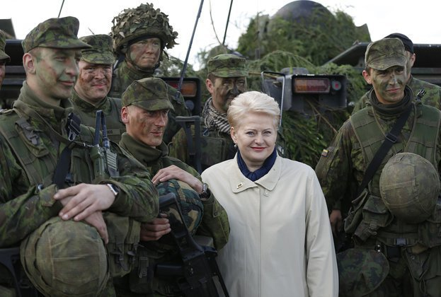 The Hysterics of Lithuanian President Dalia Grybauskaitė. Lithuanian President Dalia Grybauskaitė