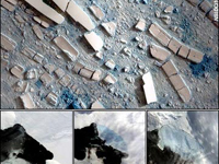 Wilkins Ice Shelf collapsing fast