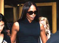 Naomi Campbell begins her community service in New York