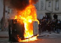 France's postelection violence continues