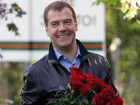 Russia's Medvedev congratulates women on March 8th on Twitter. 49587.jpeg