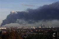 Fire breaks out at Olympic site of London, no victims reported